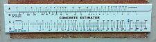 Concrete Slide Ruler 300 Yard Volume Calculator Slide Ruler MADE IN USA!!!!
