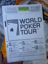 Pinball World Poker Tour Manual de Stern aleta REPRO
