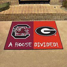 South Carolina Gamecocks - Georgia Bulldogs House Divided All Star Area Rug Mat