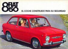 Fiat 850 Saloon / Berlina Spanish market sales brochure c.1965/66
