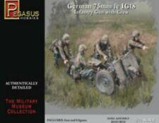 1/72 Scale Pegasus Hobbies German 75mm Le IG18 Infantry Gun & Figures Kit #7510