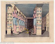 Temple d'Abu simbel-Nubie, - Egypte-Bertuch-cuivre clés 1810 ybsambul