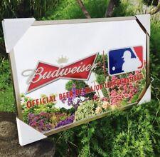 Budweiser Mlb Baseball Beer Bar Mirror Man Cave