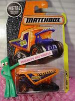 2016 Matchbox TURF TILTER #46 ☆Orange/Blue dump truck; TOY BOX☆Construction☆k/l