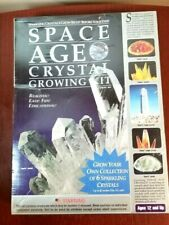 NIB Space Age Crystal Growing Kit Quartz and Amber Clusters 6 Crystals / Geodes