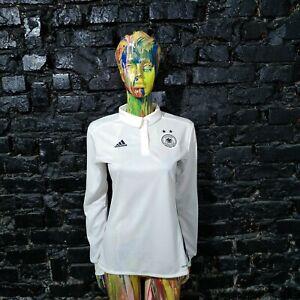 Germany Team Training Jersey Long Sleeve Football Shirt Adidas Woman Size S