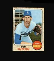 1968 Topps Don Sutton #103 Baseball Card Los Angeles Dodgers HOF