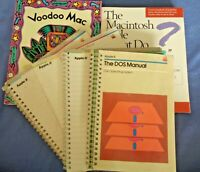 Vintage Apple Macintosh Reference Manual Computer Books Manuals Group Lot 6 DOS