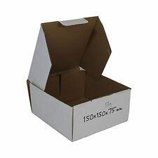 300 White Diecut 150x150x75mm Mailing Shipping Cardboard Boxes Packaging Carton