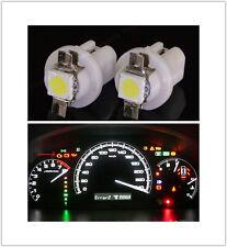 2pcs T5 5050 Auto Warning Speedo Dashboard Side Light Bulbs White 8.5D LED CRV
