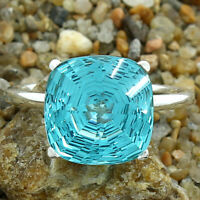 Simulated Paraiba Tourmaline 925 Sterling Silver Ring Jewelry Size 6-9 DRR1097_B