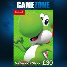 Nintendo e-Shop £30 Card Code - £30 GBP UK eShop Switch / 3DS / DS / Wii / Wii U
