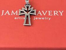 James Avery Retired Descending Dove Holy Spirit Cross Charm Sterling .925