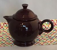 Fiestaware Claret Teapot Fiesta Retired Burgundy Large 44 oz Teapot with Lid