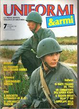 UNIFORMI & ARMI N°7/1989 MOSCHETTO AUTOMATICO UD M 42 SEMICINGOLATI TEDESCHI