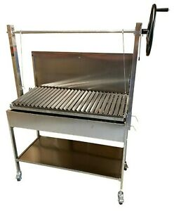 Argentinian Style Stainless Steel Commercial Large Charcoal BBQ