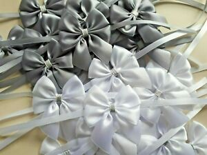 6 x Satin bows Christmas tree little bows ties 6 cm Party Xmas Gift Wrapping
