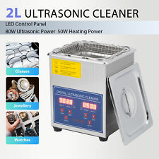 Ultrasonic Cleaner Cleaning Equipment Liter Industry Heated W/Timer Heater 2L