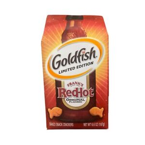 Goldfish Crackers Frank's Red Hot Limited Edition Snacks Buffalo 6.6oz Bag New