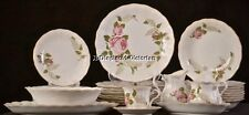 "47 PIECES WALBRZYCH POLAND ""BRIAR ROSE"" PORCELAIN DINNER SERVICE FOR 8 + SERVING"