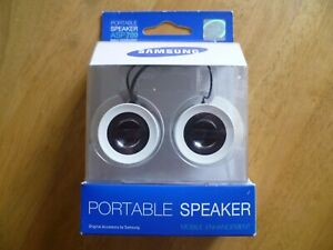 White Portable Mini Speakers Samsung ASP 700 Ideal Holidays Caravan Home