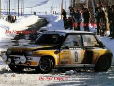 Jean Ragnotti Renault 5 Turbo Winner Monte Carlo Rally 1981 Photograph 5