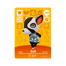 Zell #159 Animal Crossing Amiibo Card Horizons Series 2 New / Unscanned