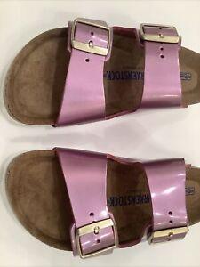 NEW Birkenstock arizona 39 Narrow Pink Purple Metallic  8 9 39N