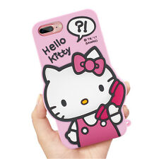 Cartoon 3D Hello Kitty Soft Silicone Phone Case Back Cover For iPhone 6 7 Plus