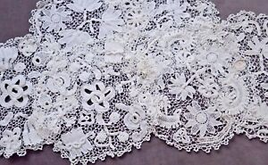 "6 Round Chunky IRISH CROCHET DOILIES, Ca 8"" to 9"" Across, Loosely Worked"