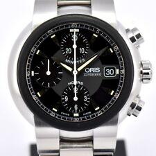 Auth Oris TT1 Chronograph 7521-44 Black Dial Date Automatic Men's Watch F#81867