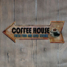 Metal Tin Sign coffee house fresh food Bar Pub Vintage Retro Poster Cafe ART