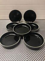 "7 PRISMA RADIUS by VIGNELLI Designs Inc. 7 1/2"" Black Soup Bowls Made In Japan."