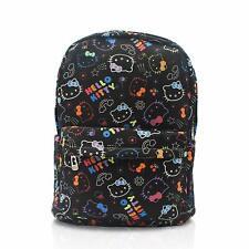 Hello Kitty Black Neon Backpack School Bag Laptop Holder All Over Print NEW