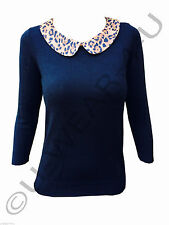 3/4 Sleeve Collared Fitted Casual Tops & Shirts for Women