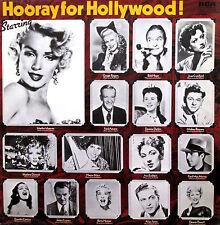 Hooray For Hollywood! Marilyn Monroe Ginger Rogers Harpo Marx etc NM/EX Vinyl LP