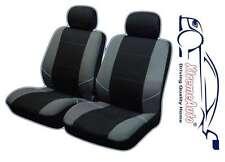 Keswick Black/Grey Front Car Seat Covers For Suzuki SX4 Swift Jimny Vitara