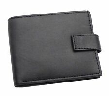 MEN'S SOFT BLACK QUALITY REAL LEATHER WALLET, CREDIT CARD HOLDER, PURSE 421-BLK