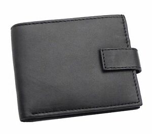 Mans Bifold RFID BLOCKING Quality Real Leather Wallet With Zip Coin Pocket 421