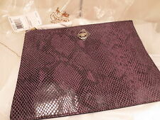 New NWT Coach Snake Embossed Large Zippered Tech Pouch Sleeve iPad Case F 67523