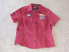 Harley-Davidson BOYS Button Down Shirt RED Mechanic Garage Pit Crew BOYS XL