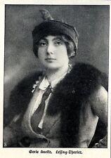 Gerte Knelke Lessing-Theater Berliner Schauspielerin Bilddokument 1913