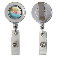 Flamingo Retractable Reel Chrome Badge ID Card Holder