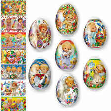 Easter Egg Wraps for 7 Hen Eggs, Pysanka, Pysanky Eggs Heat Shrink Sleeves,#42