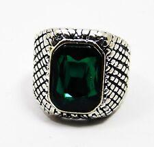 46.5 Ct Beautiful Cushion Shape Green Tourmaline Men's Ring Gemstone SIZE 10