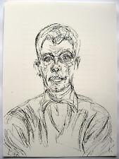 ALBERTO GIACOMETTI: SITZENDER MANN: LITHOGRAPHIE 1961 WERKVERZ. LUST 157 DIEGO