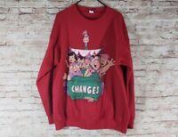 The Flintstones Crewneck Sweat shirt VTG Changes 90s Barney Fred Dino Size XL