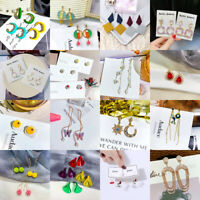 Fashion Women Metal Geometric Pendant Dangle Drop Statement Earrings New Jewelry