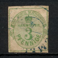 (YYAA 652) Hanover 1863 USED small thin GERMANY German states Hannover