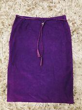 Vintage Versus By Gianni Versace Purple Straight Skirt Leather Cinching Belt 42